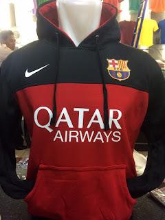 gambar desain terbaru foto photo kamera Jaket sweater Barcelona warna merah hitam terbaru musim 2015/2016 di enkosa sport toko online terpercaya lokasi di pasar tanah abang jakarta pusat
