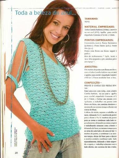 Blusa elegante tejida al crochet con patrones