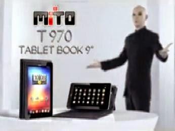 Tablet Book Mito T970, Tablet 9 inci dilengkapi dengan Keyboard