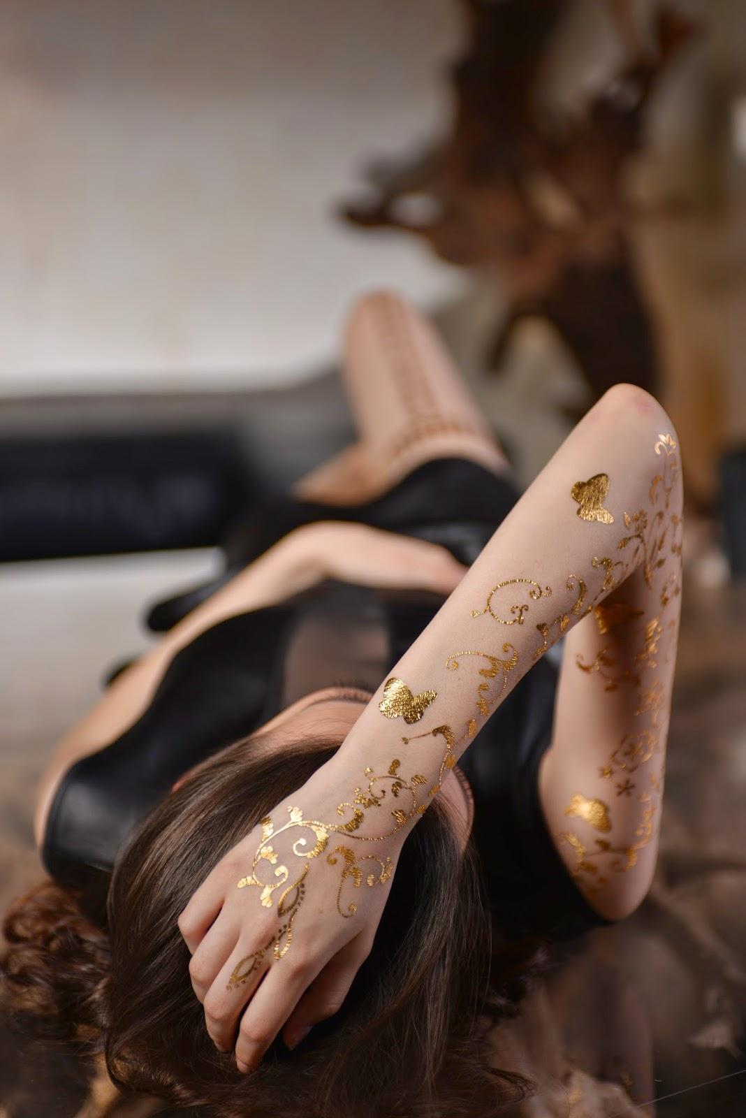 Tatouage temporaire un bijou à même la peau Marie Claire - tatouage temporaire bijoux