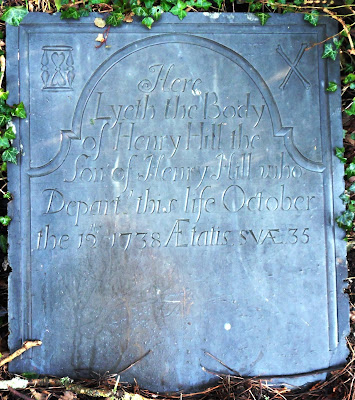 1738 gravestone from Tregony, Cornwall