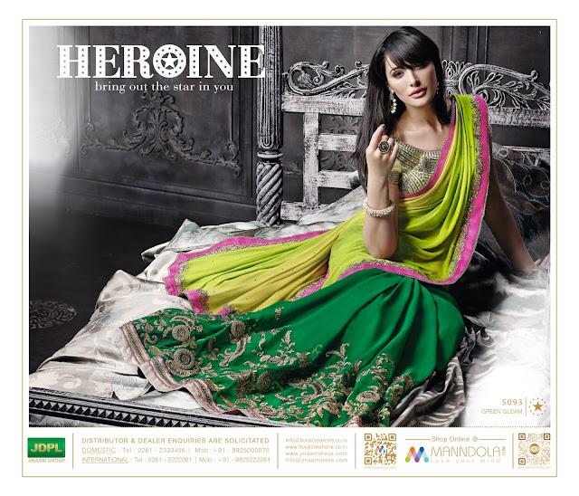 Heroine –  Georgette Banglori Silk Exclusive Designer Saree