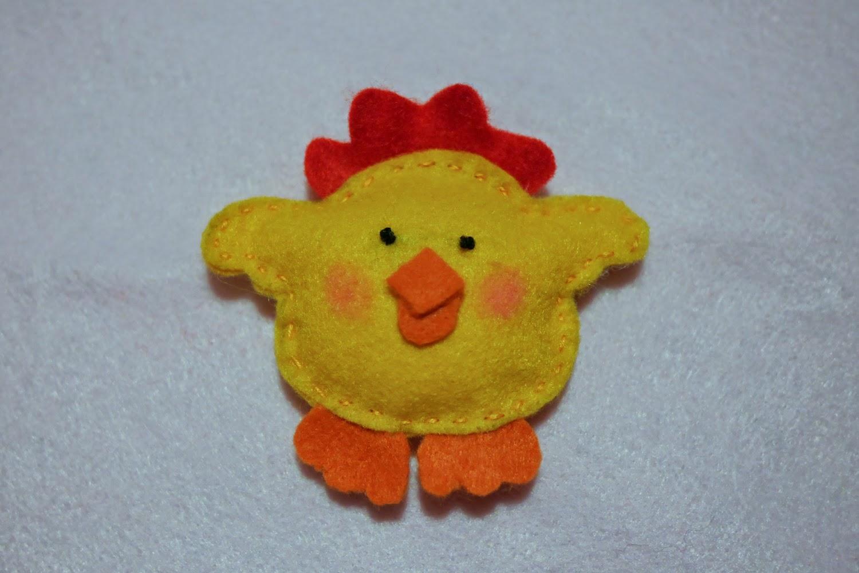 chick felt - pulcino feltro