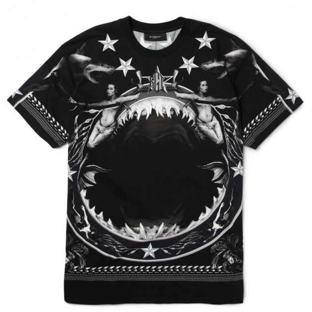 Keepyaswag com givenchy oversized tee shark print for Givenchy t shirt man