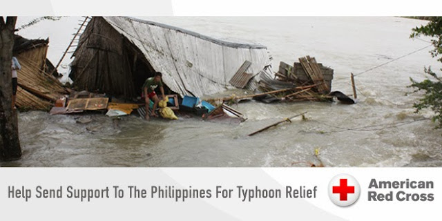send support to the Philippines for Typhoon Relief via Red Cross