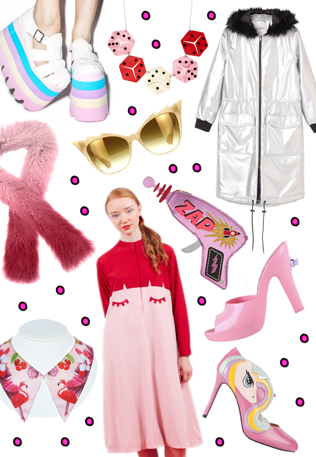 Shopping wish list, pink and red, autumn 2015