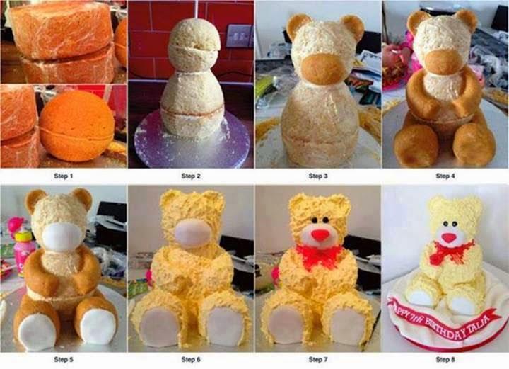 Como Fazer Bolo Glacê  ursinho de pelúcia