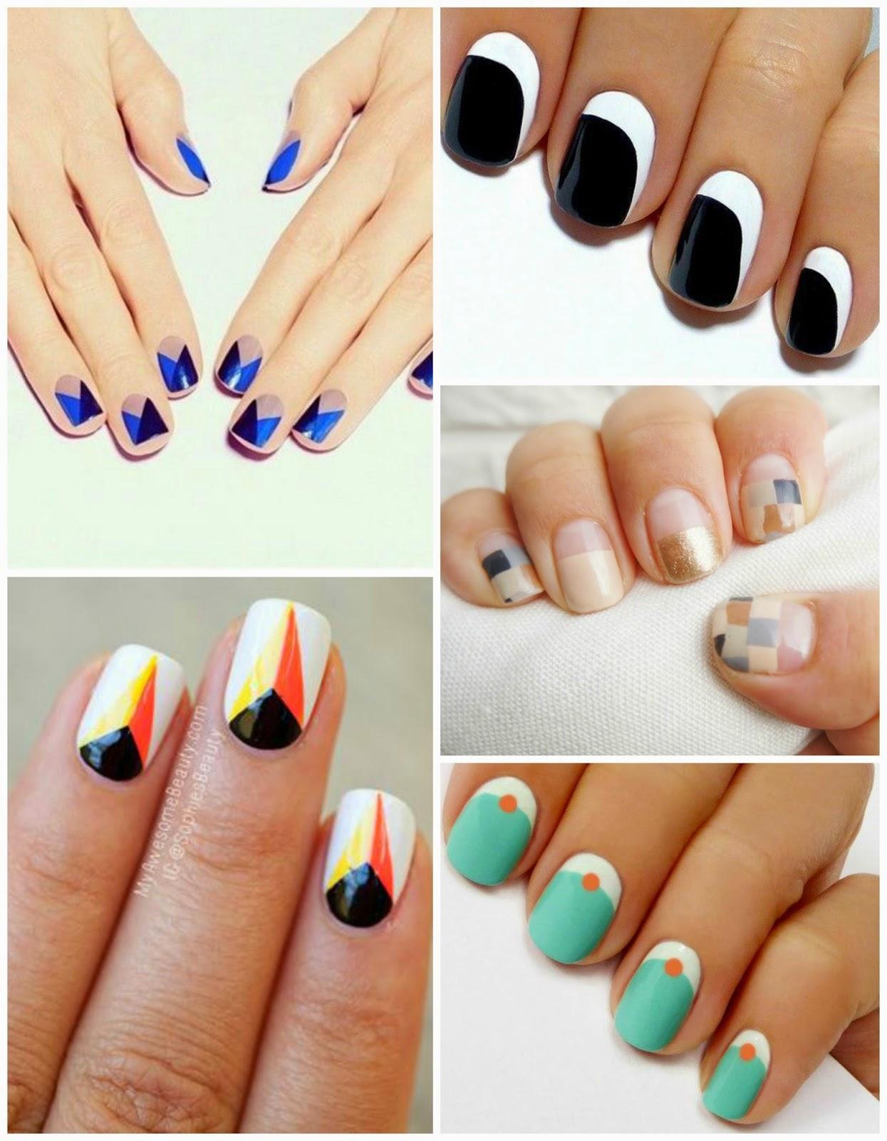 Geometric Nail Art - Kelly Platts: Geometric Nail Art