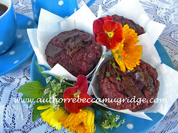 Beautiful Beetroot Chocolate Yoghurt Muffins (additive and refined sugar free)