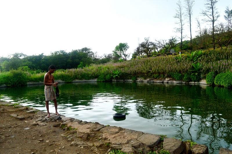 Pond bathing
