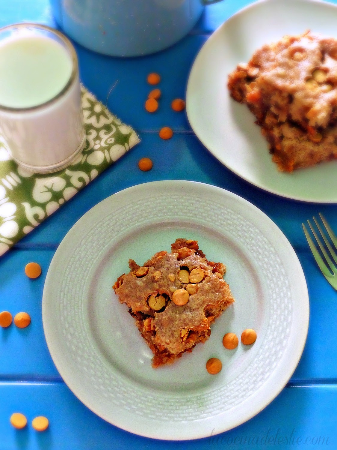 Banana Butterscotch Bars - lacocinadeleslie.com