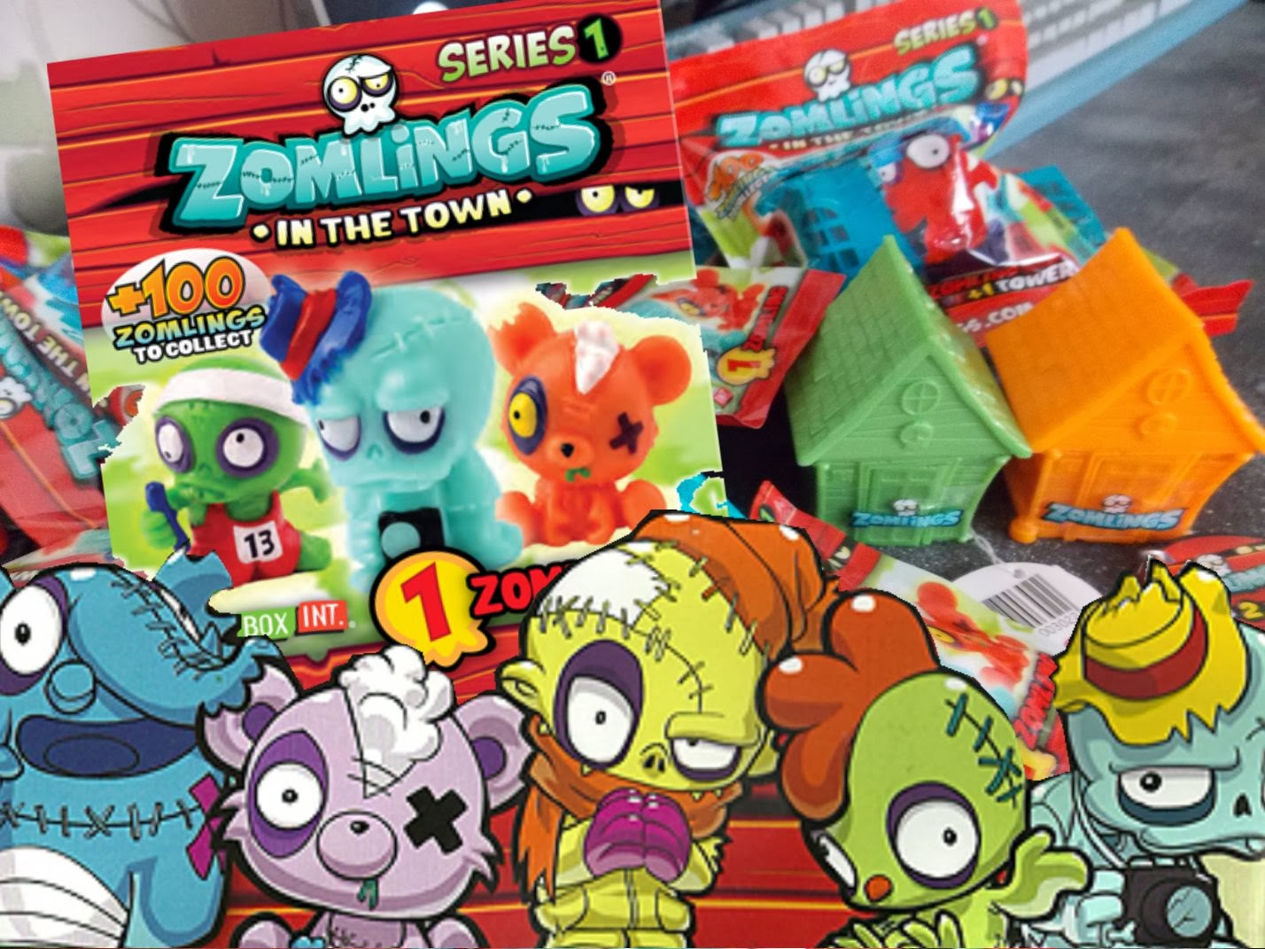 zomlings in the town series one collection