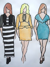 My curvy fashion sketches