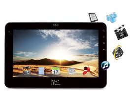 HCL ME Tablet U1 (Rs.7500) supports a bright white capacitive touch 7 inch with a 0.3 MP front facing camera. It comes with a 1-GHz processor with 1 GB RAM