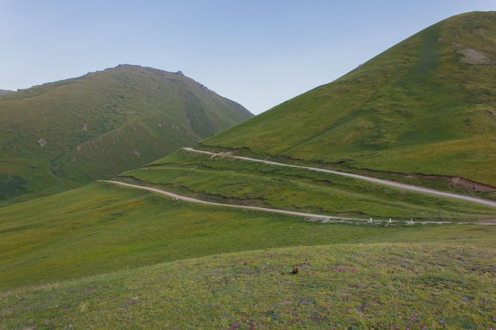 Кыргызские горы, Сон-куль, Серпантин, дорога