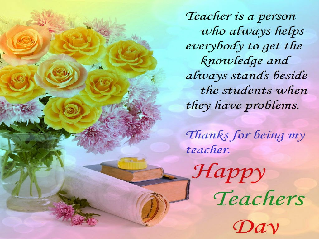 Teacher Day Card Message Colorful flowers wishes \x3cb\x3emessages\x3c ...