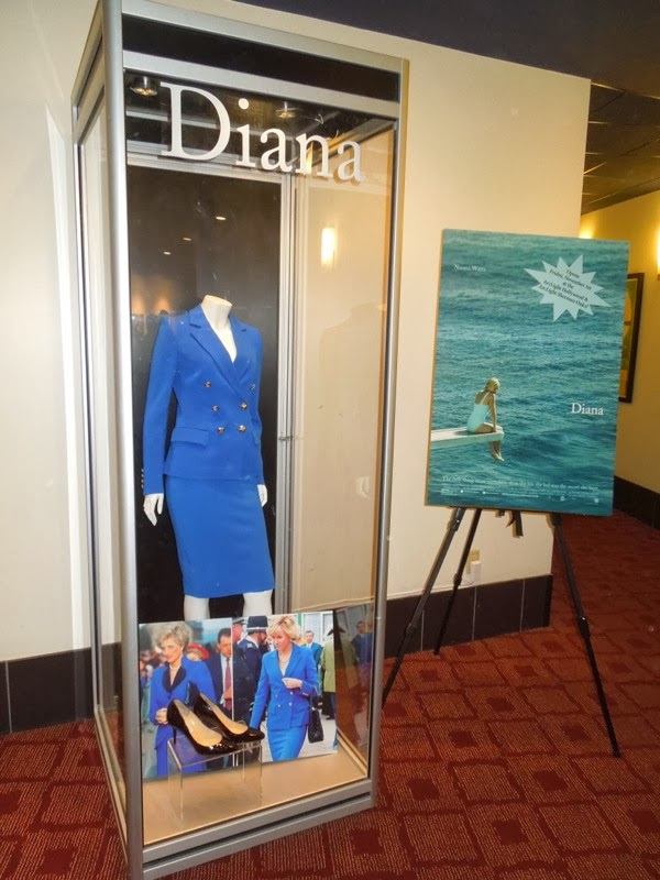 Naomi Watts Diana movie costume exhibit