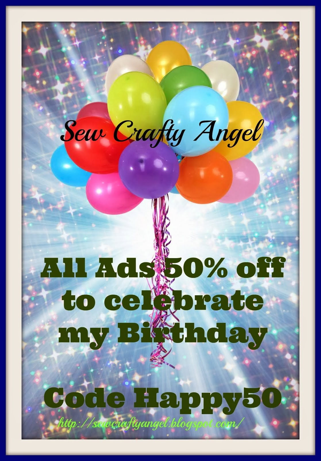 Sale - All Ads 50% Ends 12/31/13