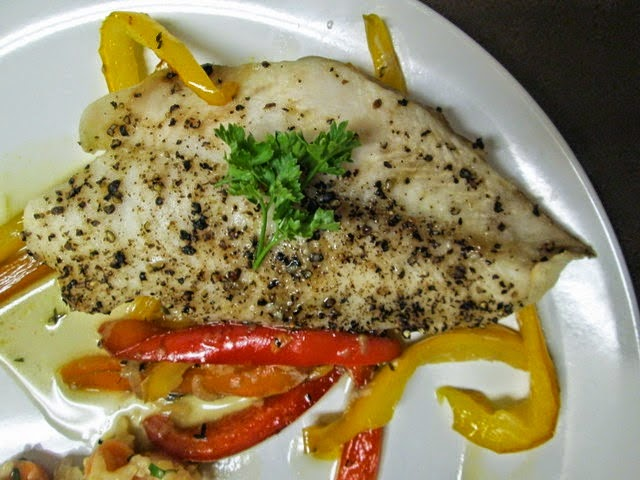 Broiled Cracked Pepper Fish