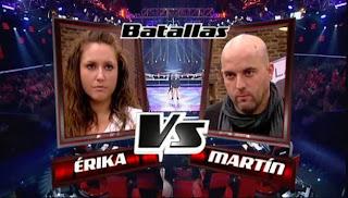 Martín Bueno y Erika Gómez-Batallas La Voz
