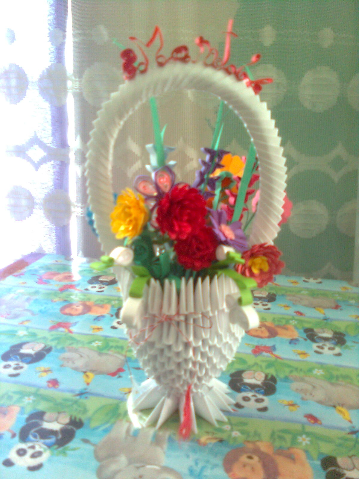 Nicole S Origamiquilling Art Baskets Of Flowers On March 8 3d