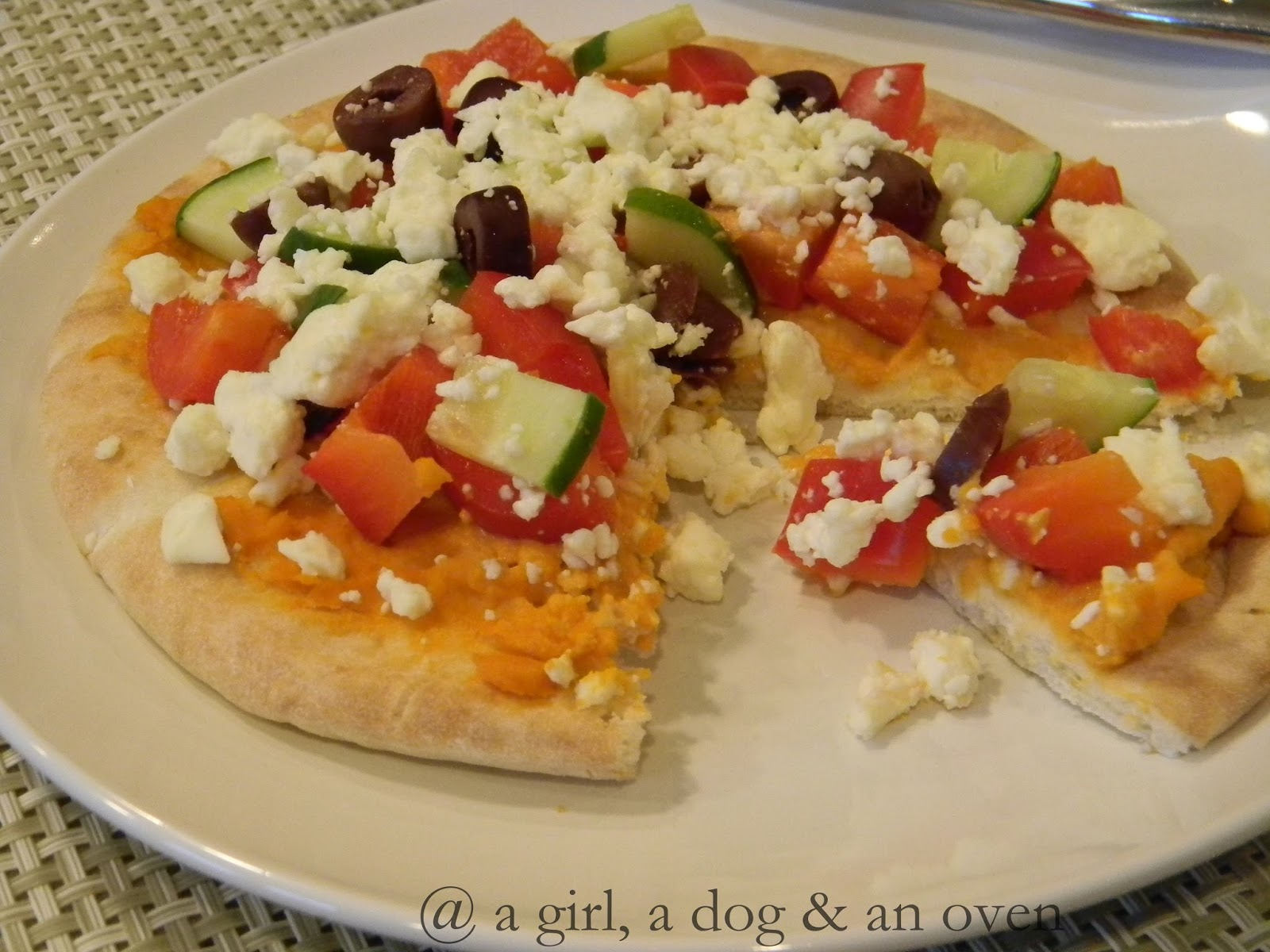 a girl, a dog & an oven: Fresh (Greek Pita Pizza)