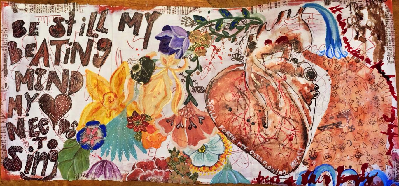 Galia Alena Art Journal page mixed media- Spectrum
