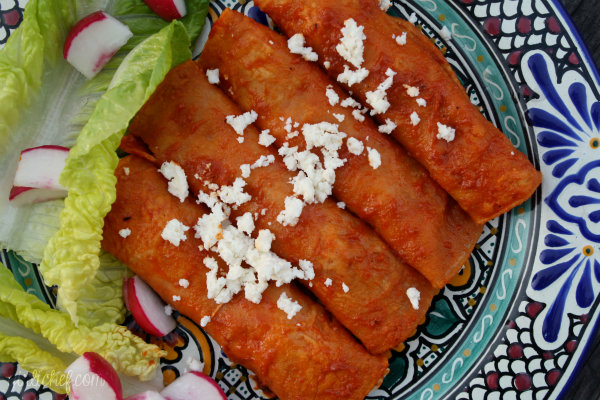 Enchiladas in Chile-Garlic Sauce