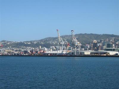 on board Aratere in Wellington