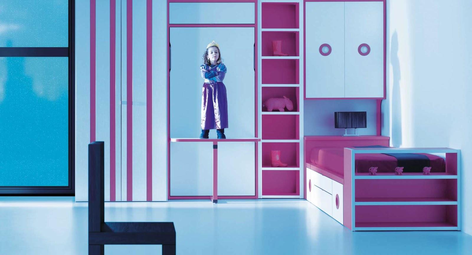Como decorar un dormitorio juvenil - Dormitorio juvenil con cama abatible ...