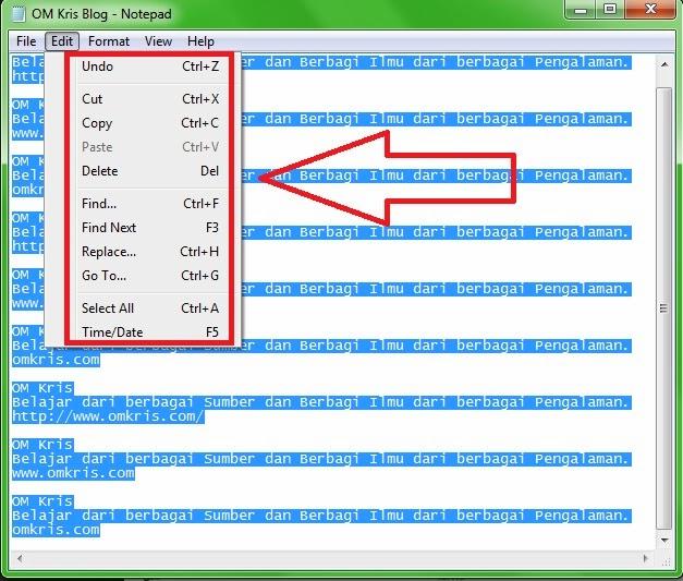 Cara Copy Artikel dari Internet agar Mudah di Edit pada Microsoft Word OM Kris Blog