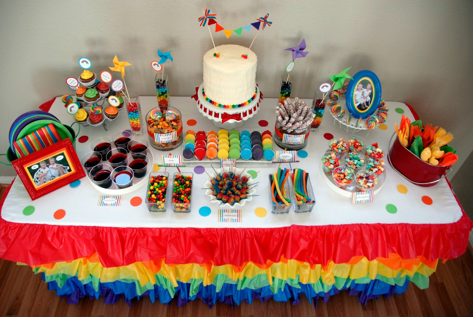 Kinsers The Twins Rainbow Birthday Party