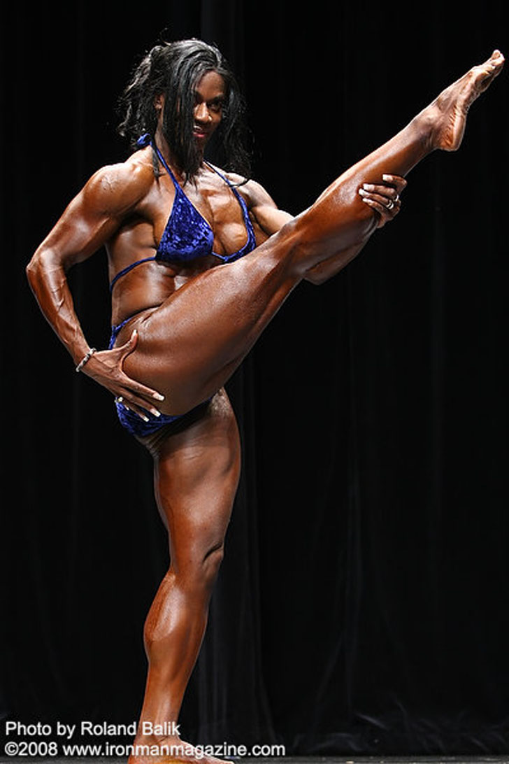 Tracy Hess Posing Her Muscular, Flexible Body At The 2008 Team Universe Competition
