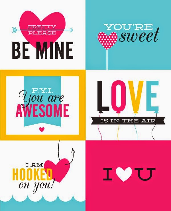 thingsthatiheart Cute Collection of Valentines Ideas and FREE – Valentines Card Print out