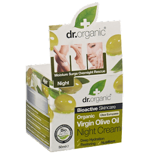 virgin olive oil night cream Dr Organic