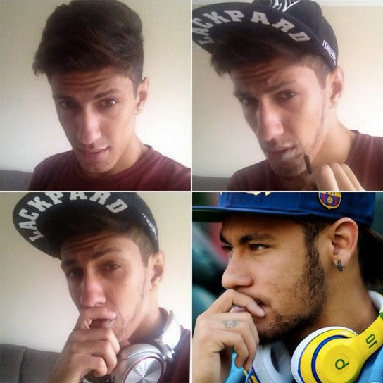 #MakeUpTransformation  neymar