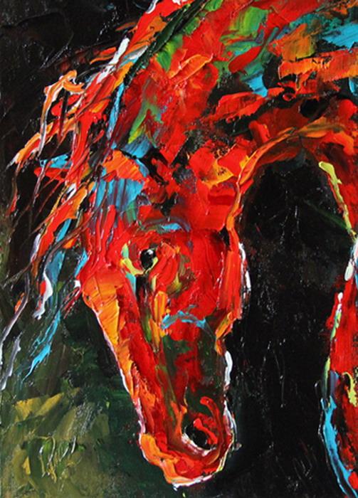 Im genes arte pinturas caballos con espatula color y - Ver colores de pintura ...