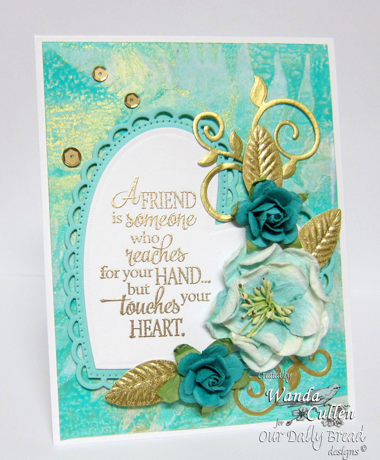 Stamps - Our Daily Bread Designs Quote Collection 4, ODBD Custom Fancy Foliage Dies, ODBD Custom Ornate Hearts Die