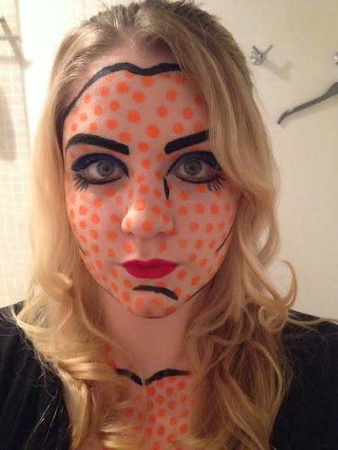 Roy Lichtenstein Pop Art Face Paint