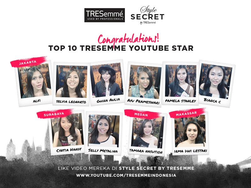 TOP 10 TRESemme Youtube Star
