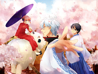 Kagura Gintoki Shinpachi Anime Gintama Cherry Blossom HD Wallpaper Desktop PC Background 1324