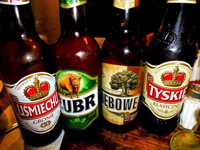 Cervezas Pllacas en Cracovia