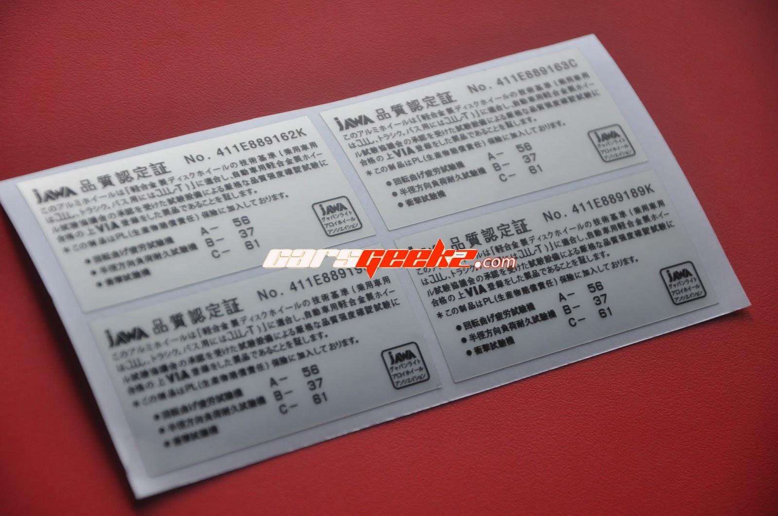 JAWA #2 Decals Sticker Fit For Volk Rays