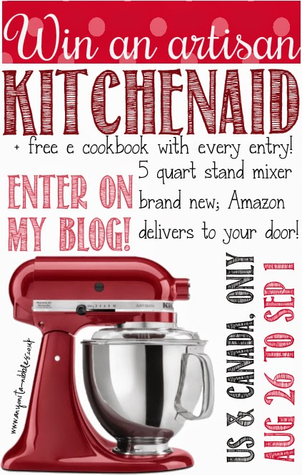 #win an artisan #KitchenAid mixer from www.anyonita-nibbles.co.uk