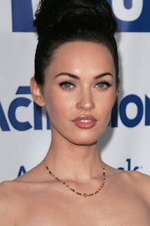 Megan Fox Classic Updo Bun Hairstyle