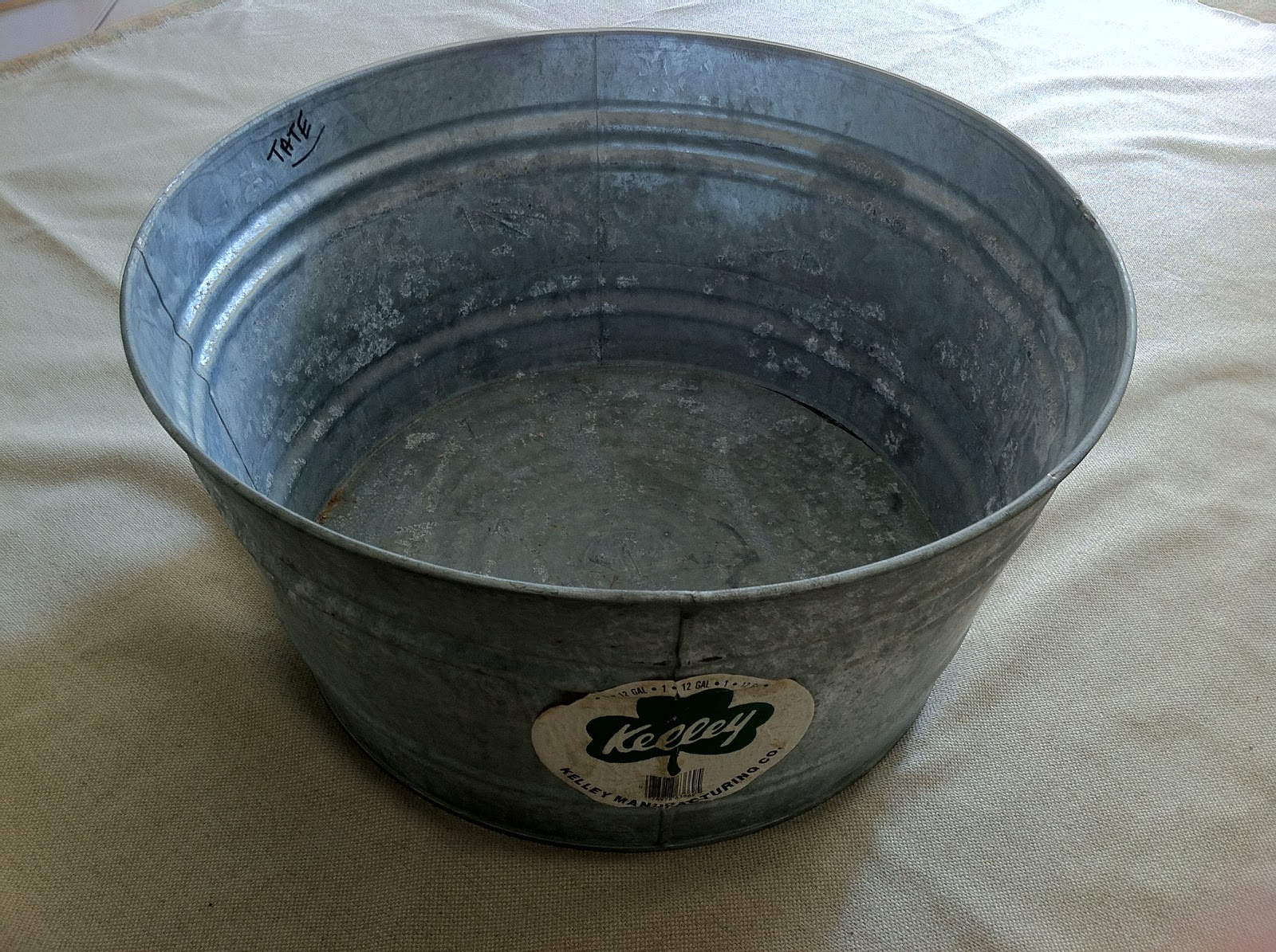 Home Depot Metal Pail : Woven home galvanized bucket liner