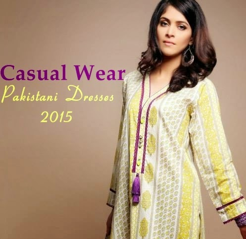 Casual Wear Pakistani Dresses 2015 16