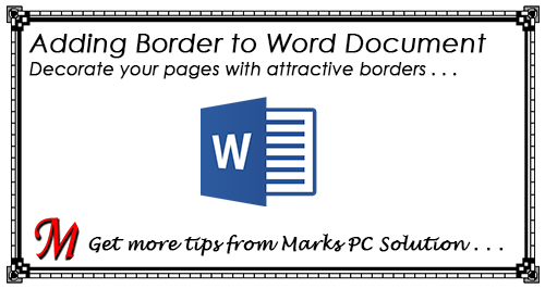 fast download  adding border to word document