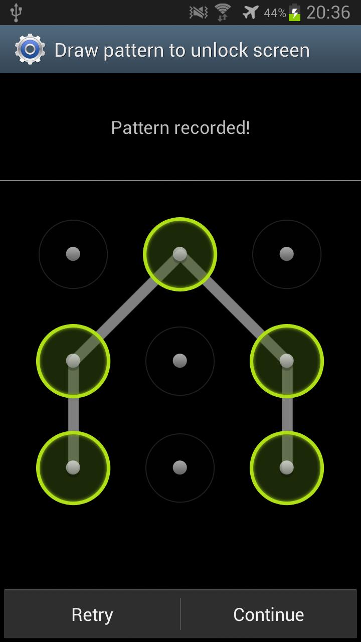 Unlock Phone Pattern Unique Decoration
