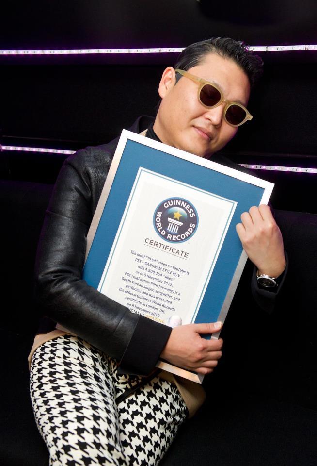 Gangnam Style Won Guinness World Records Certificate Rofl Lol